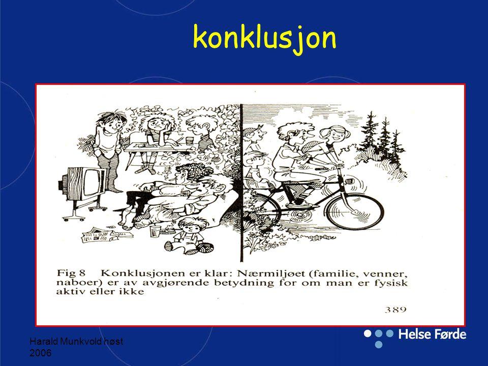 Harald Munkvold høst 2006 Forbedring i sosiale relasjoner;venner,familie n=37 Svar i prosent