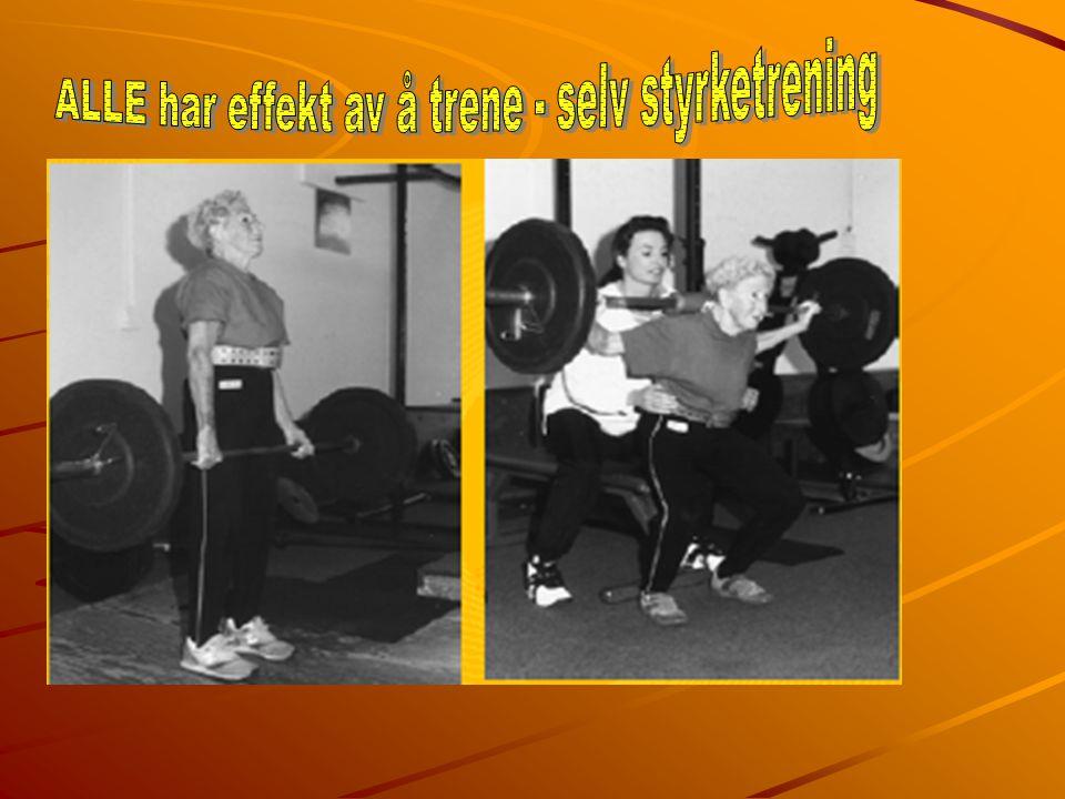 Utholdende styrke 12,10,8 reps Mål; Utvikle muskler som kan gjenomføre submaksimale belastninger over tid.