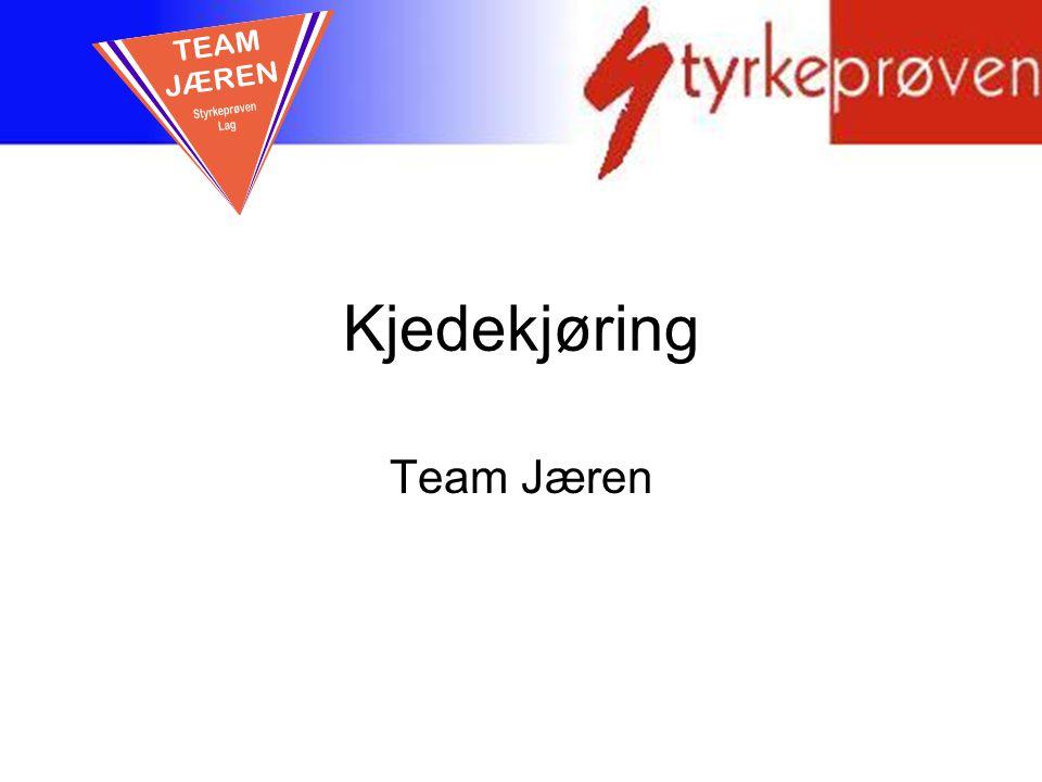 Kjedekjøring Team Jæren