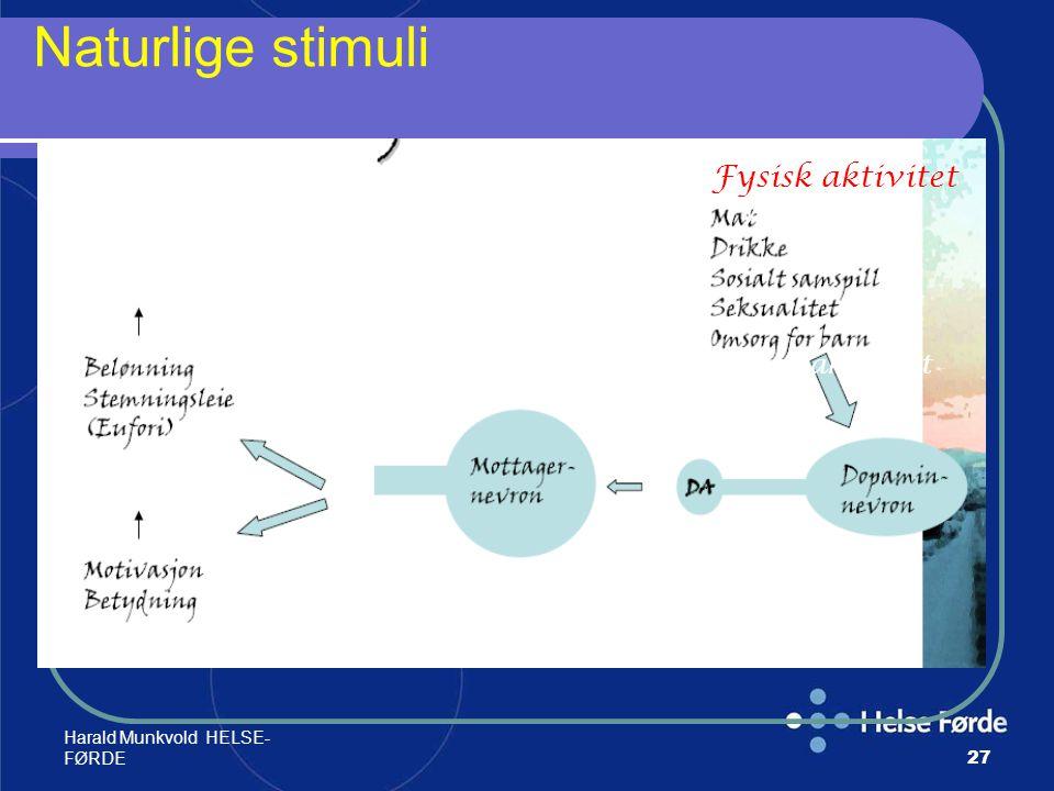 Harald Munkvold HELSE- FØRDE27 Naturlige stimuli Fysisk aktivitet