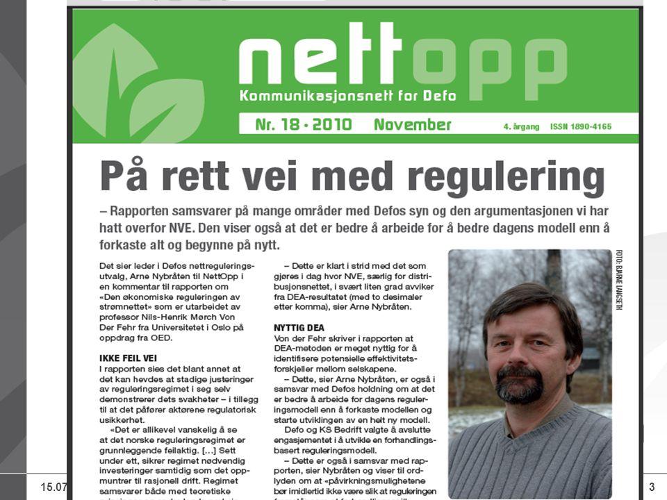 15.07.2014Defo – Distriktenes energiforening, Knut Lockert3