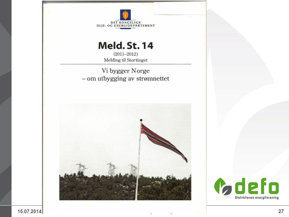 15.07.2014Defo – Distriktenes energiforening27