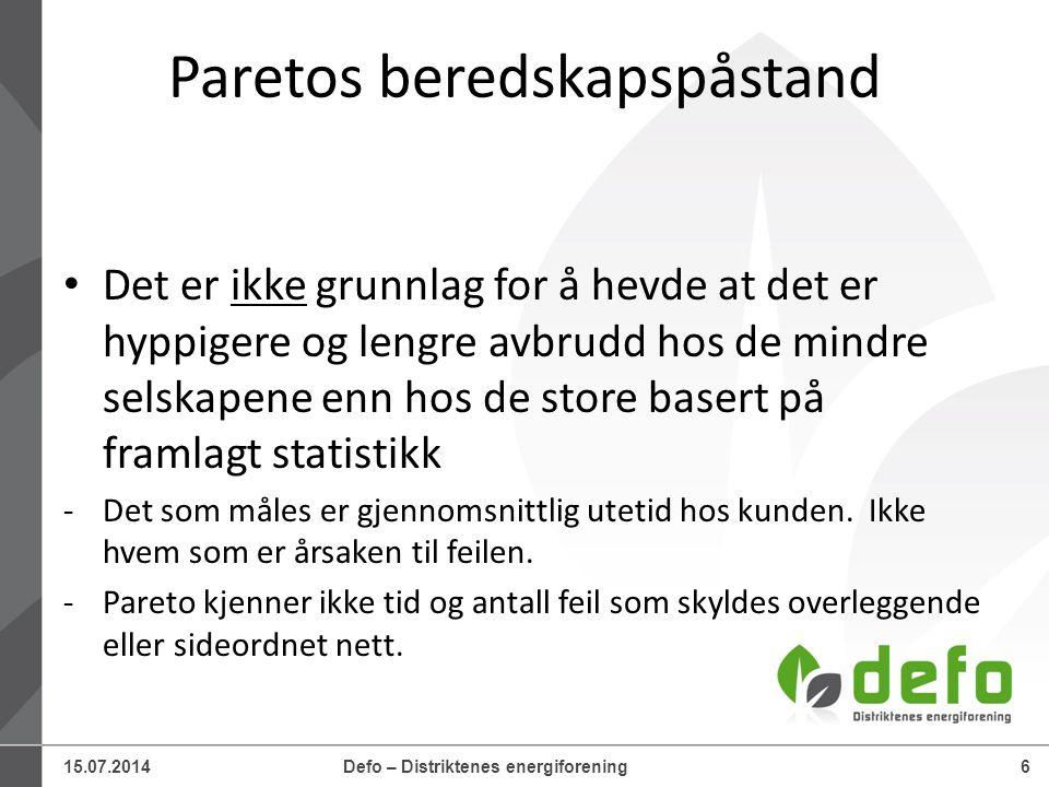 15.07.2014Defo – Distriktenes energiforening37 31.05.2013 14:01 www.questback.co m Brukerundersøkelse 201337 4.