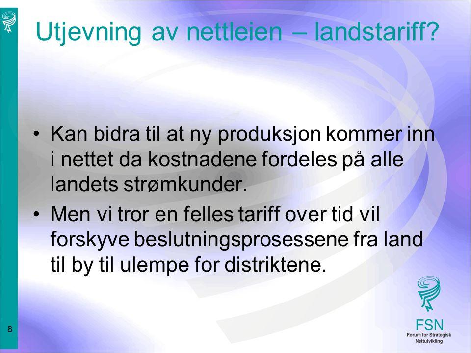8 Utjevning av nettleien – landstariff.