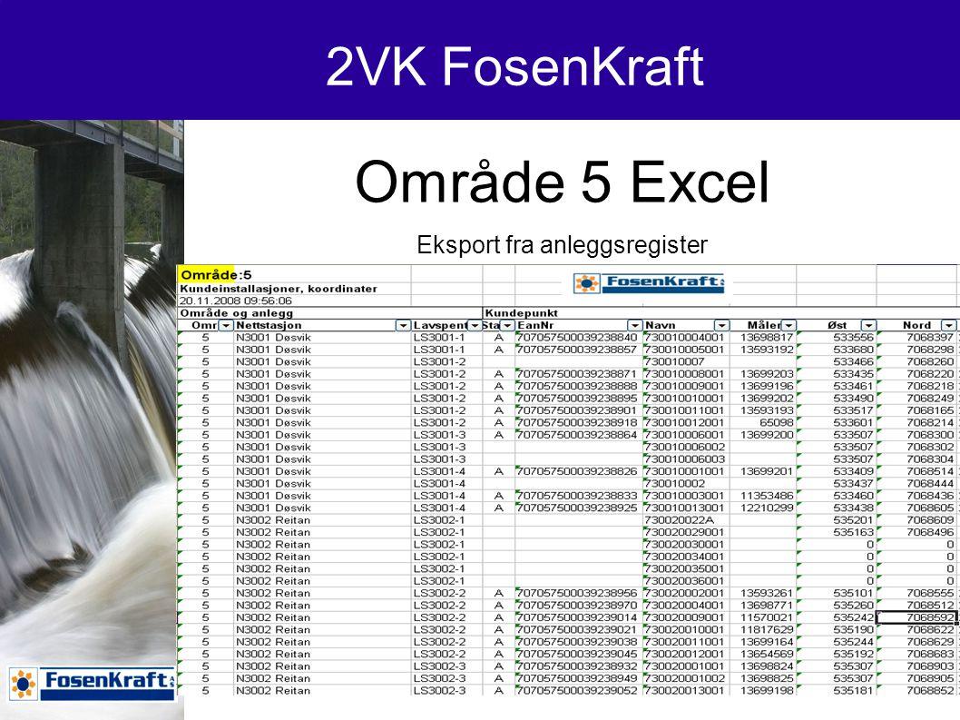 2VK FosenKraft Koordinater på håndterminal og GPS
