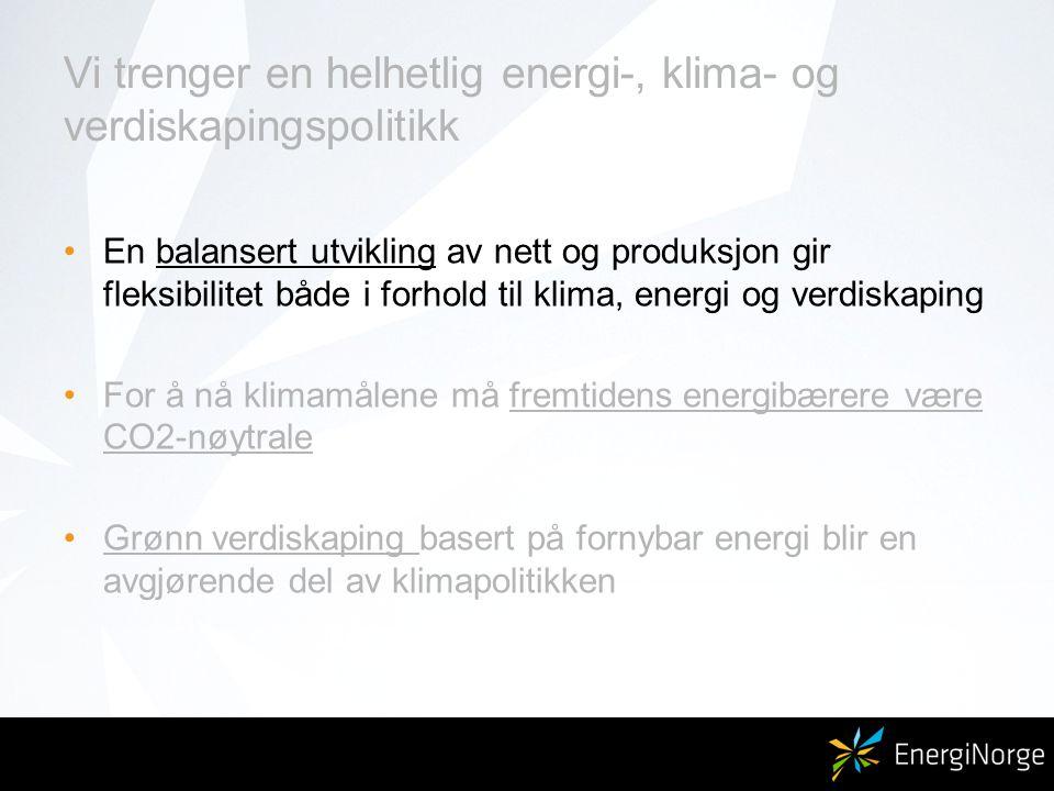 Vi trenger en energi- og klimapolitikk………….