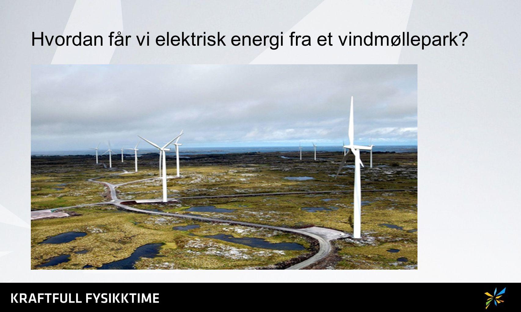 Hvordan får vi elektrisk energi fra et vindmøllepark?