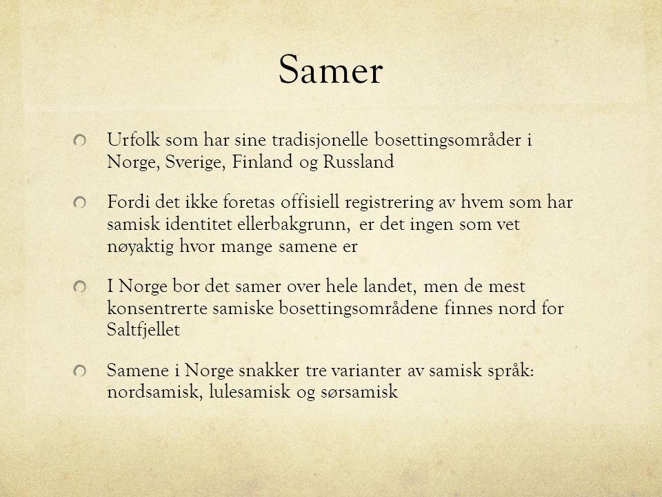 Samisk historie Minimum 2000 år Jegere, fiskere og sankere.