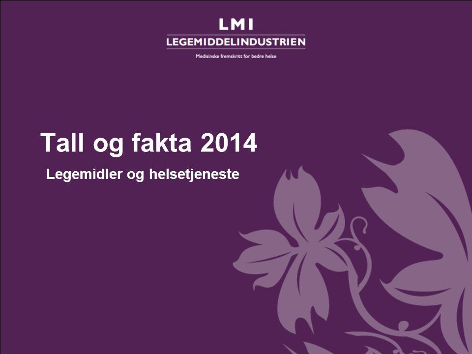 Tall og fakta 2014– Legemidler og helsetjeneste Tall og fakta 2014 Legemidler og helsetjeneste