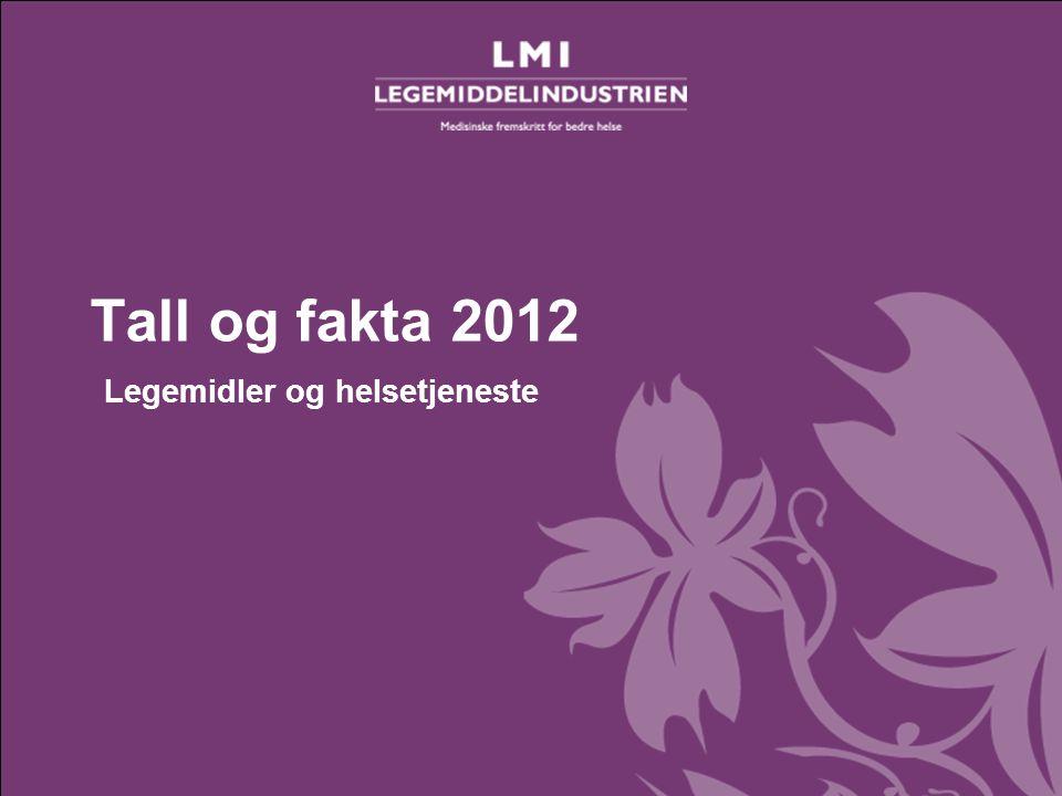 Tall og fakta 2012– Legemidler og helsetjeneste Tall og fakta 2012 Legemidler og helsetjeneste