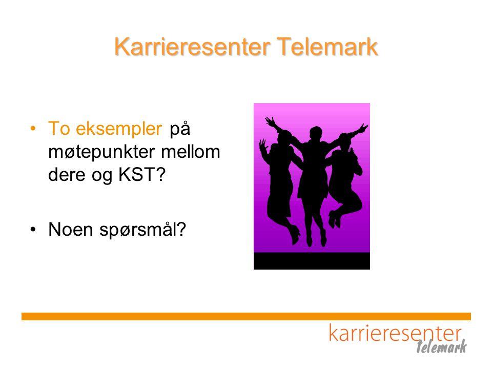 Karrieresenter Telemark To eksempler på møtepunkter mellom dere og KST Noen spørsmål