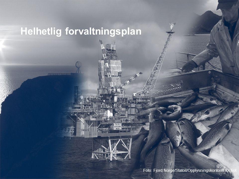 Helhetlig forvaltningsplan Foto: Fjord Norge/Statoil/Opplysningskontoret for fisk