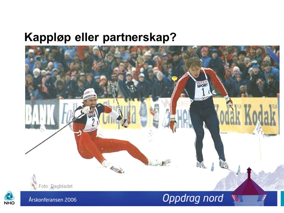 Kappløp eller partnerskap? Foto: Dagbladet