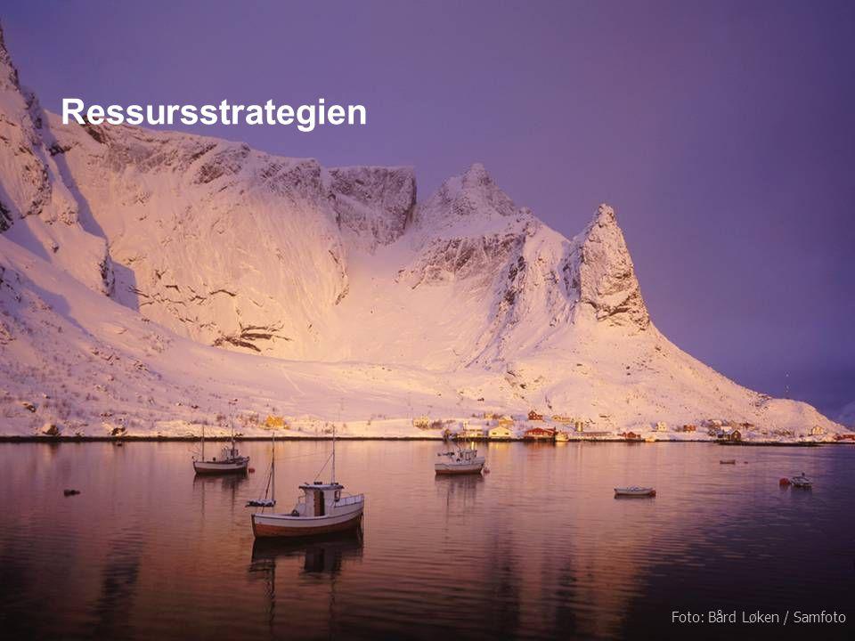 Ressursstrategien Kartlegg ressursene Gi grønt lys for drivverdige funn Profilér Nord-Norge i utlandet Avklar fiskerisoner og bekjemp overfiske NHOs forventninger til Regjeringen