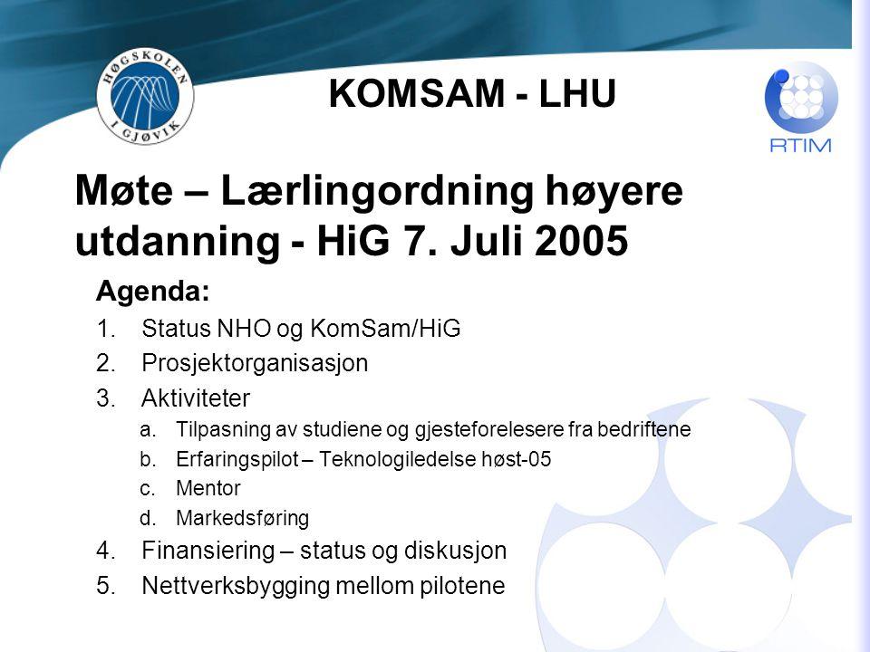 Møte – Lærlingordning høyere utdanning - HiG 7.
