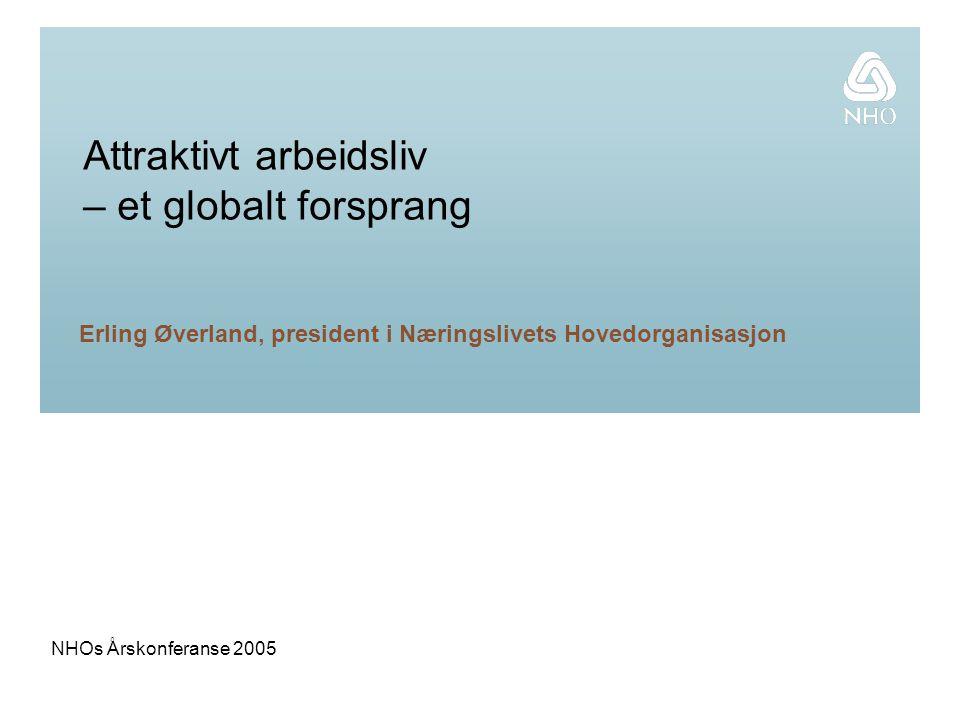 NHOs Årskonferanse 2005 Attraktivt arbeidsliv – et globalt forsprang Erling Øverland, president i Næringslivets Hovedorganisasjon
