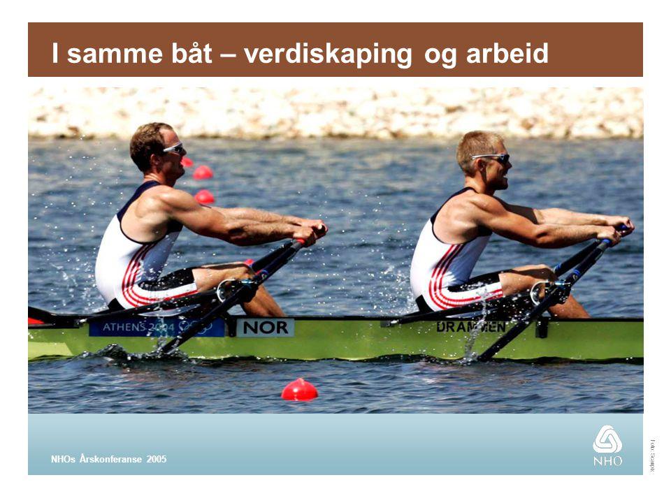 NHOs Årskonferanse 2005 I samme båt – verdiskaping og arbeid Foto: Scanpix