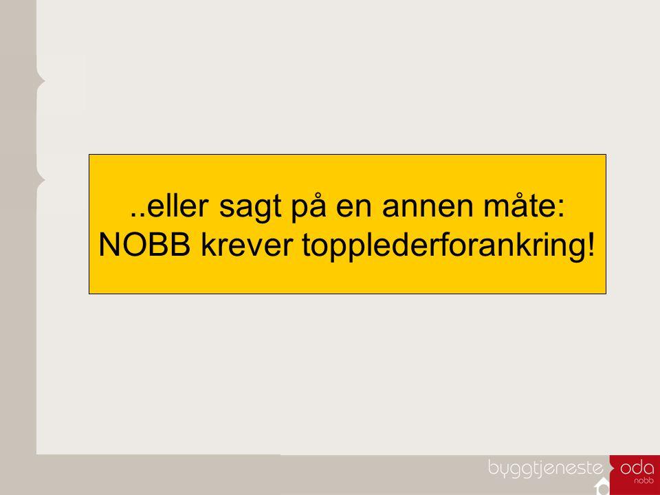 Dette er NOBB: Norsk Byggevarebase – den eneste i sitt slag i Norge (og faktisk Norden) Eid av byggevareindustri og –handel Tilgjengelig for alle aktører i en byggeprosess Kilden til all relevant informasjon om de fleste byggevarer som omsettes i Norge