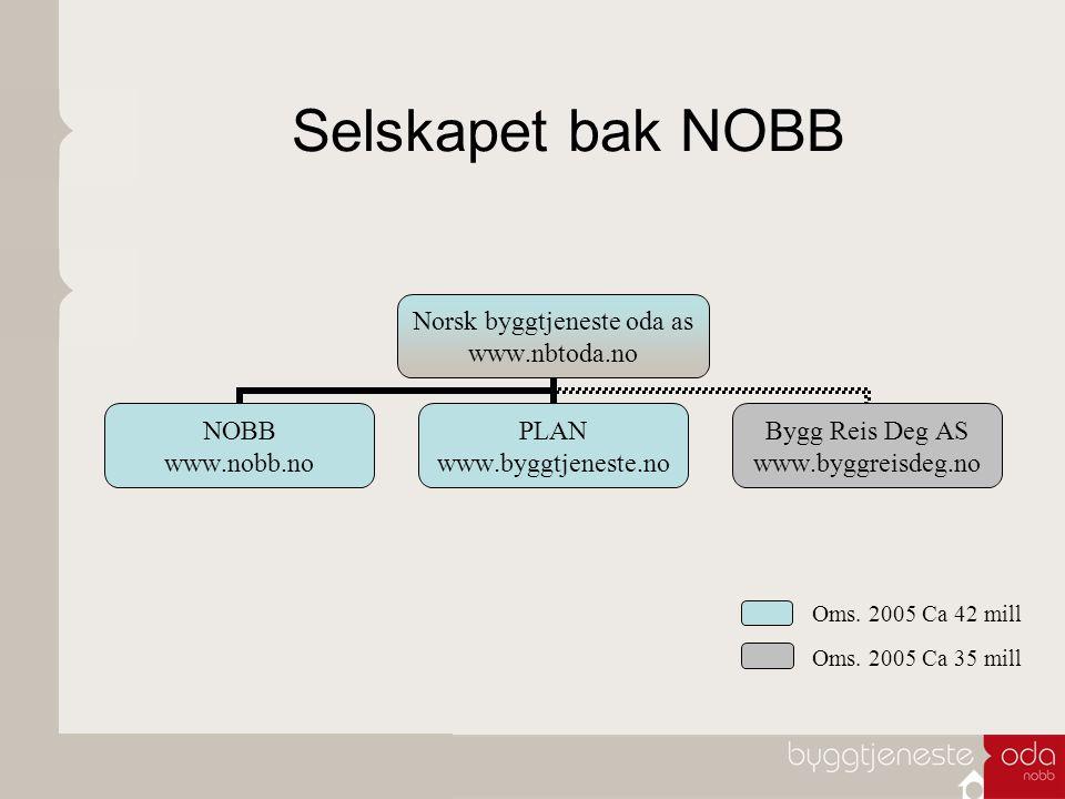 Selskapet bak NOBB Oms. 2005 Ca 42 mill Oms. 2005 Ca 35 mill