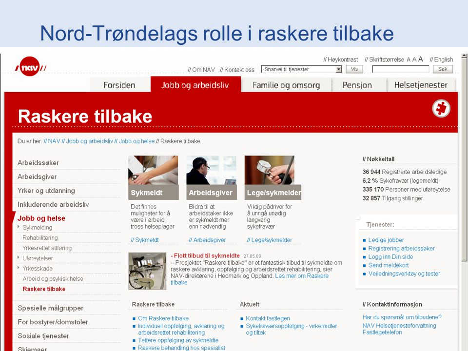 Nord-Trøndelags rolle i raskere tilbake