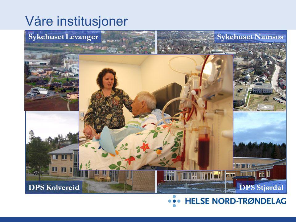 Våre institusjoner DPS StjørdalDPS Kolvereid Sykehuset LevangerSykehuset Namsos
