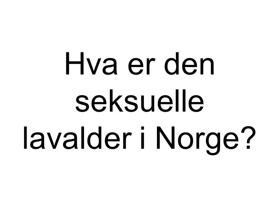 Hva er den seksuelle lavalder i Norge?