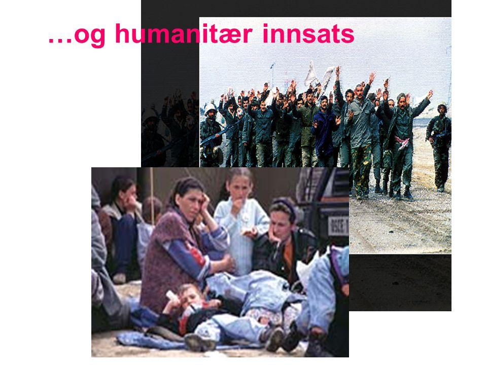 …og humanitær innsats