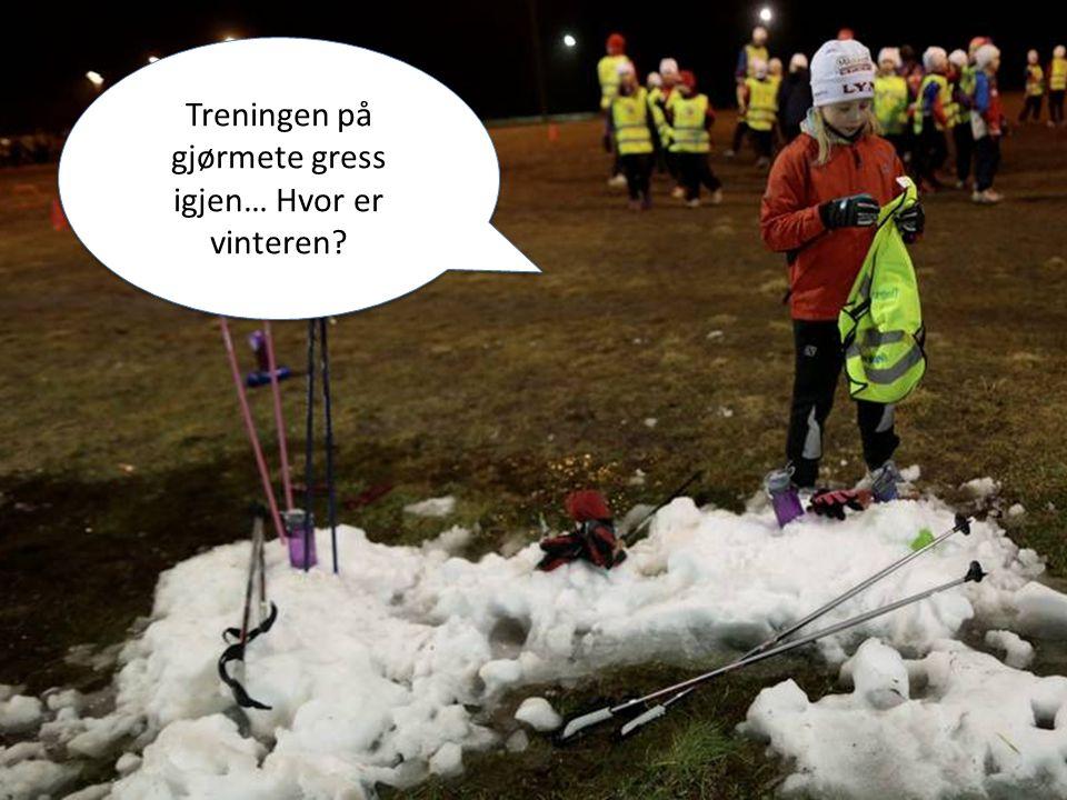 Miljøfyrtårn i idretten Treningen på gjørmete gress igjen… Hvor er vinteren