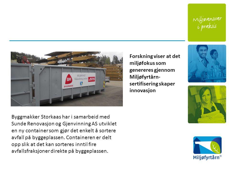 Byggmakker Storkaas har i samarbeid med Sunde Renovasjon og Gjenvinning AS utviklet en ny container som gjør det enkelt å sortere avfall på byggeplassen.
