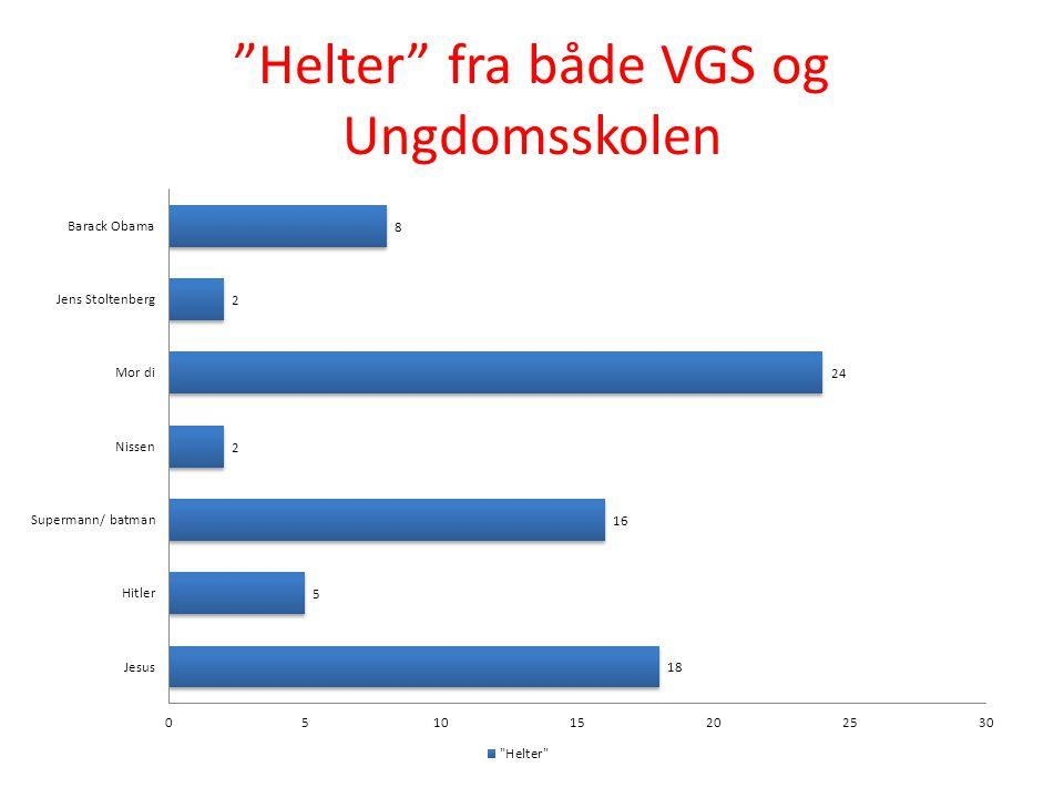"""""""Helter"""" fra både VGS og Ungdomsskolen"""