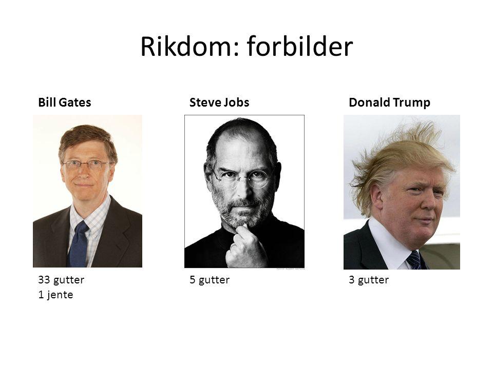 Rikdom: forbilder 33 gutter 1 jente 5 gutter3 gutter Bill GatesSteve JobsDonald Trump