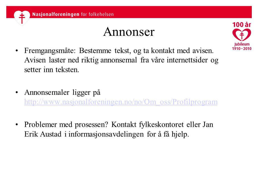 Annonser Fremgangsmåte: Bestemme tekst, og ta kontakt med avisen.