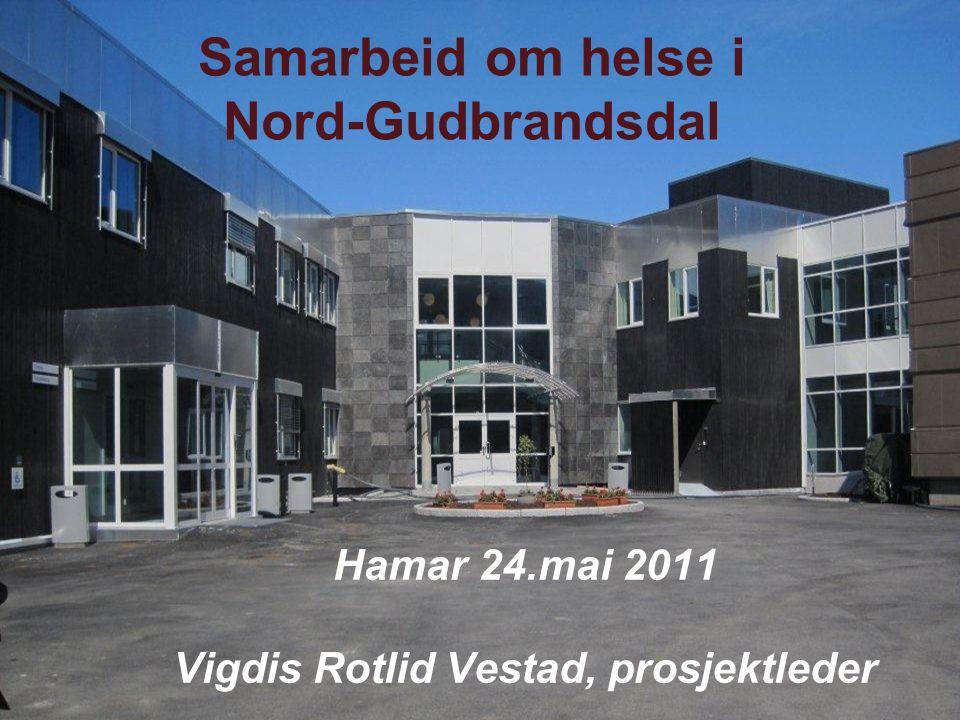 Samarbeid om helse i Nord-Gudbrandsdal Hamar 24.mai 2011 Vigdis Rotlid Vestad, prosjektleder