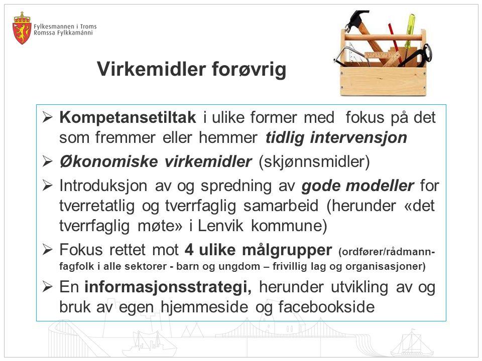 Nasjonal pilotering Fylkesmannen i Troms fikk i 2012 et oppdrag fra BLD, Hdir og Avdir om nasjonal pilotering av Sjumilsstegsmodellen.