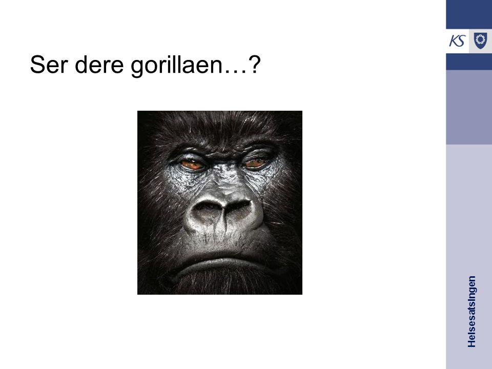 Helsesatsingen Ser dere gorillaen…?