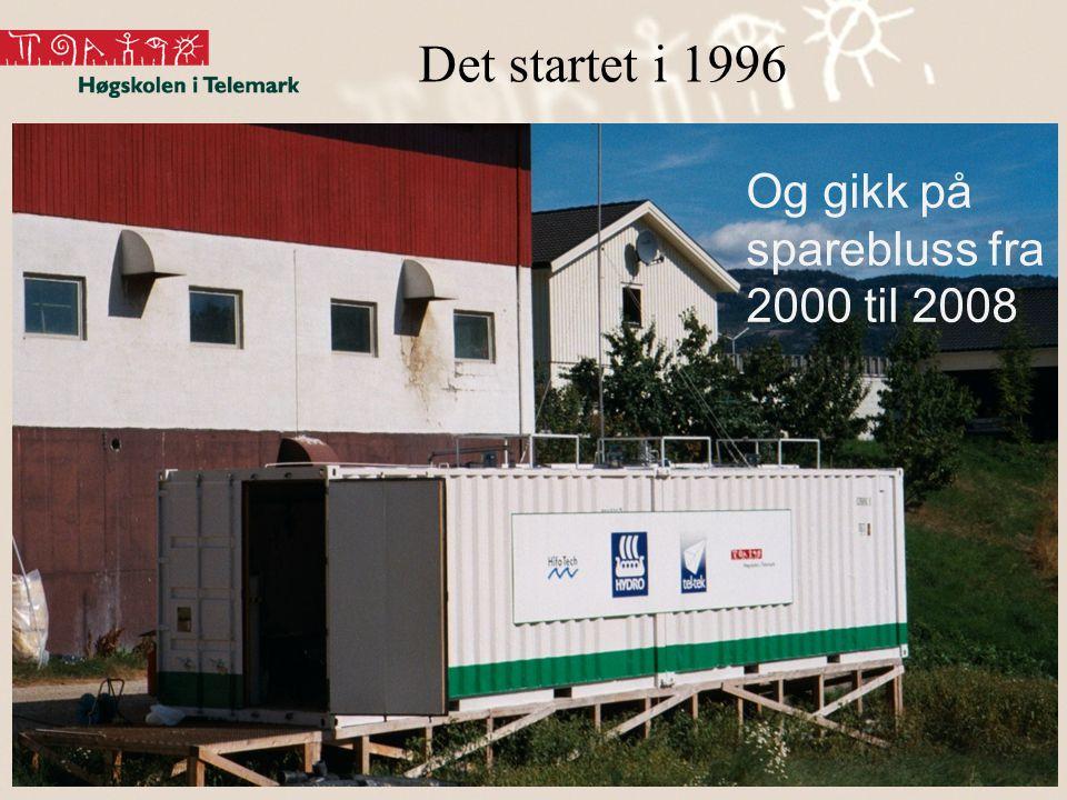 Biogass11 Ørland 8.3.2011 Det startet i 1996 2 Og gikk på sparebluss fra 2000 til 2008