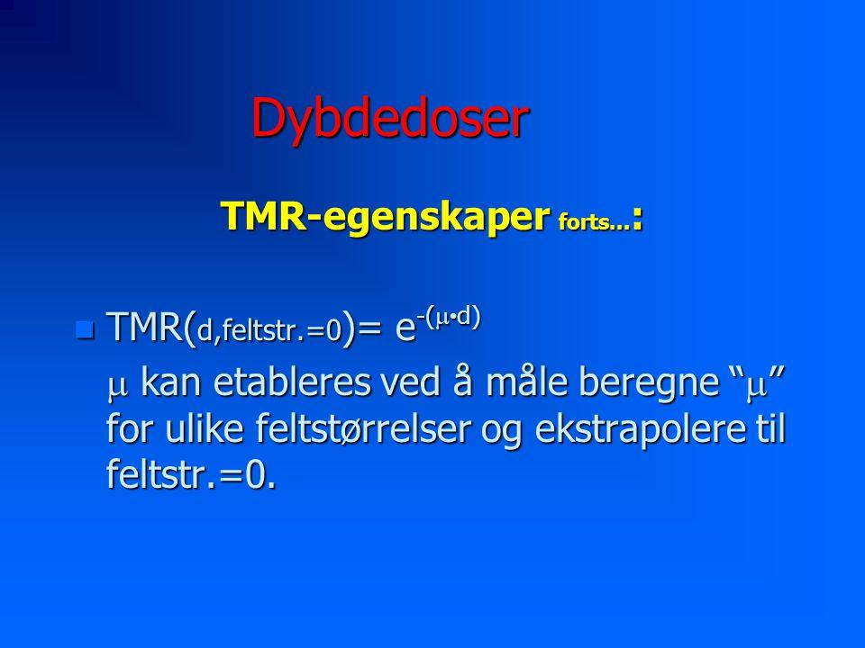 Dybdedoser TMR-egenskaper forts...