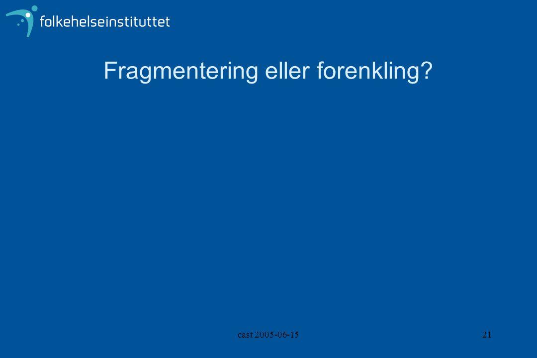 cast 2005-06-1521 Fragmentering eller forenkling?