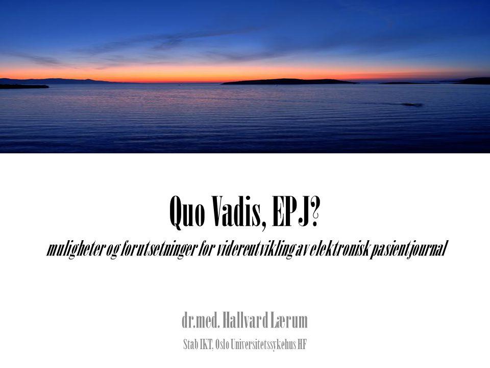 Quo Vadis, EPJ.