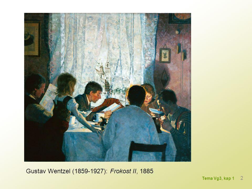 Gustav Wentzel (1859-1927): Frokost II, 1885 2 Tema Vg3, kap 1
