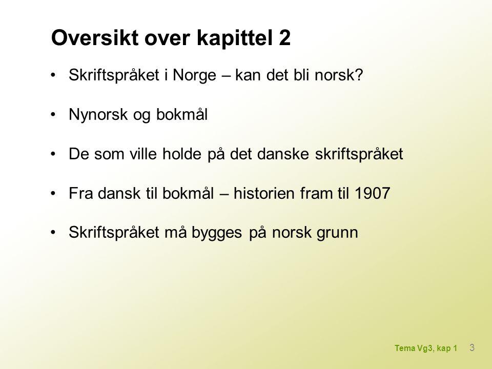 Skriftspråket i Norge – kan det bli norsk.