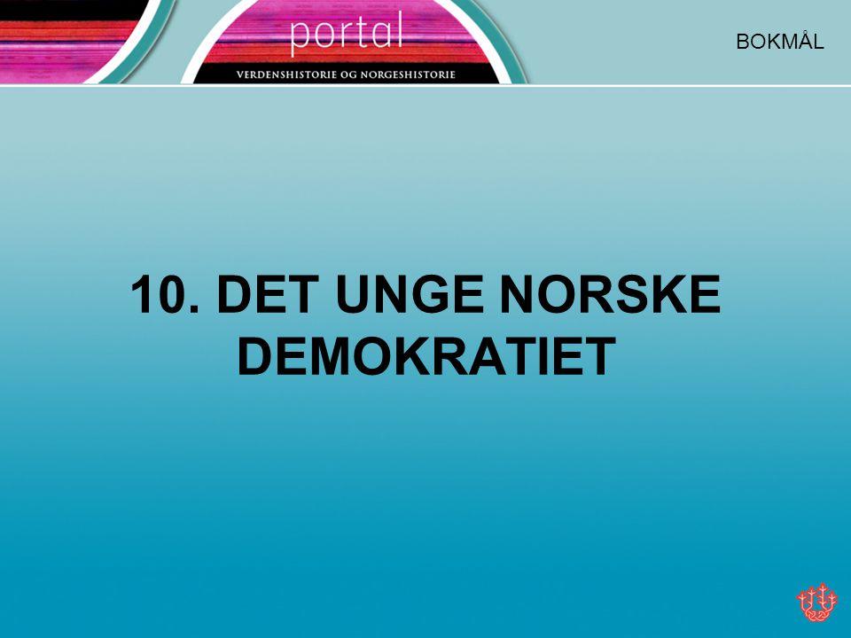 10. DET UNGE NORSKE DEMOKRATIET BOKMÅL