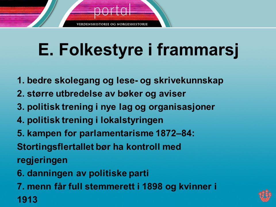 F.Unionen med Sverige blir oppløst 1.