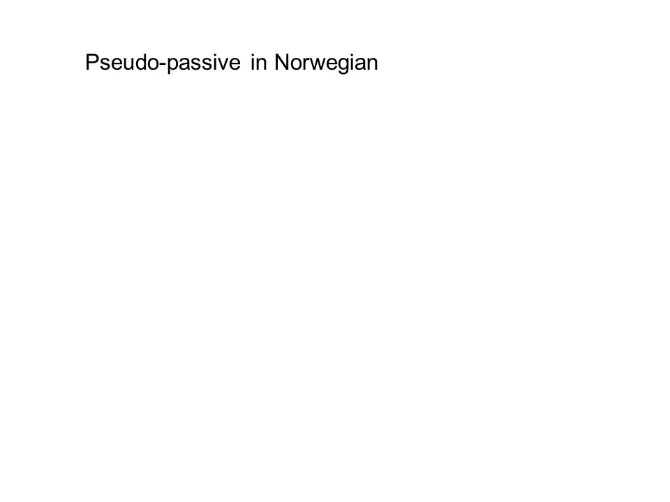Pseudo-passive in Norwegian