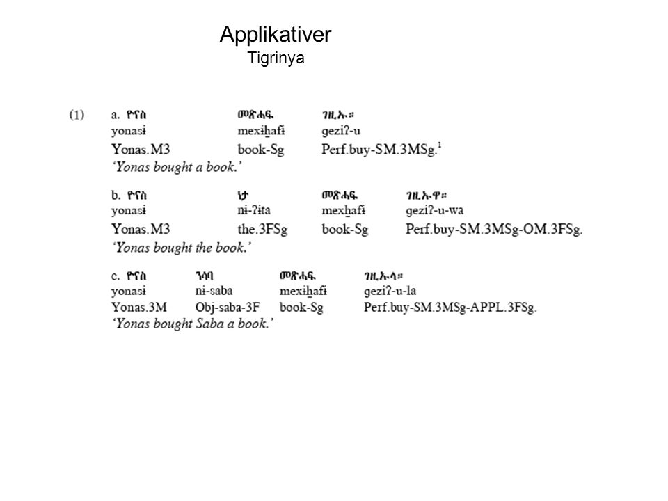 Applikativer Tigrinya