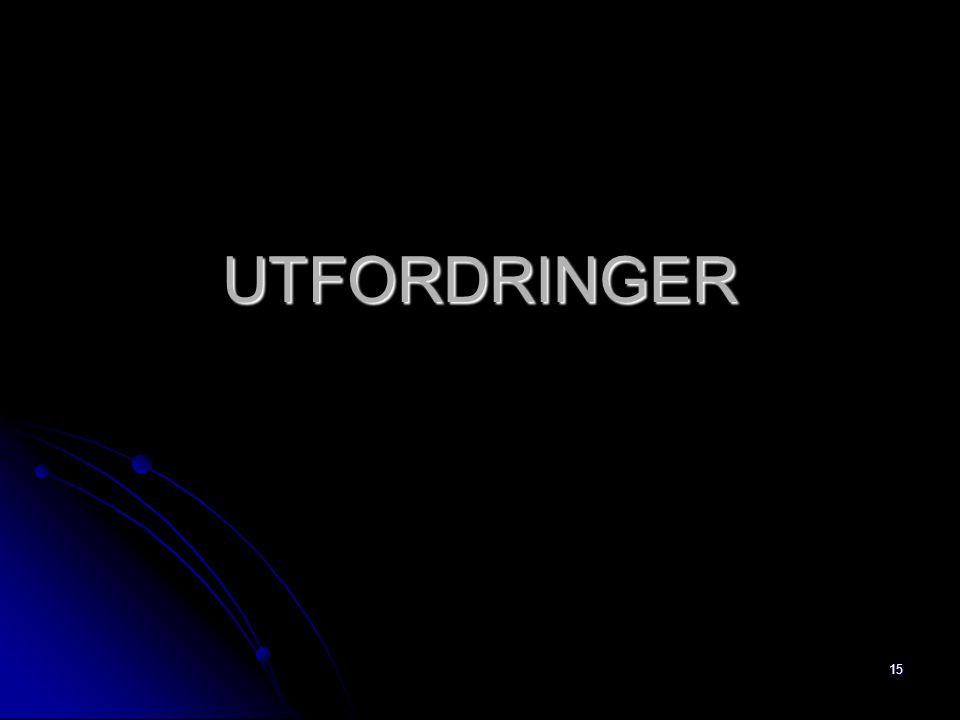 15 UTFORDRINGER