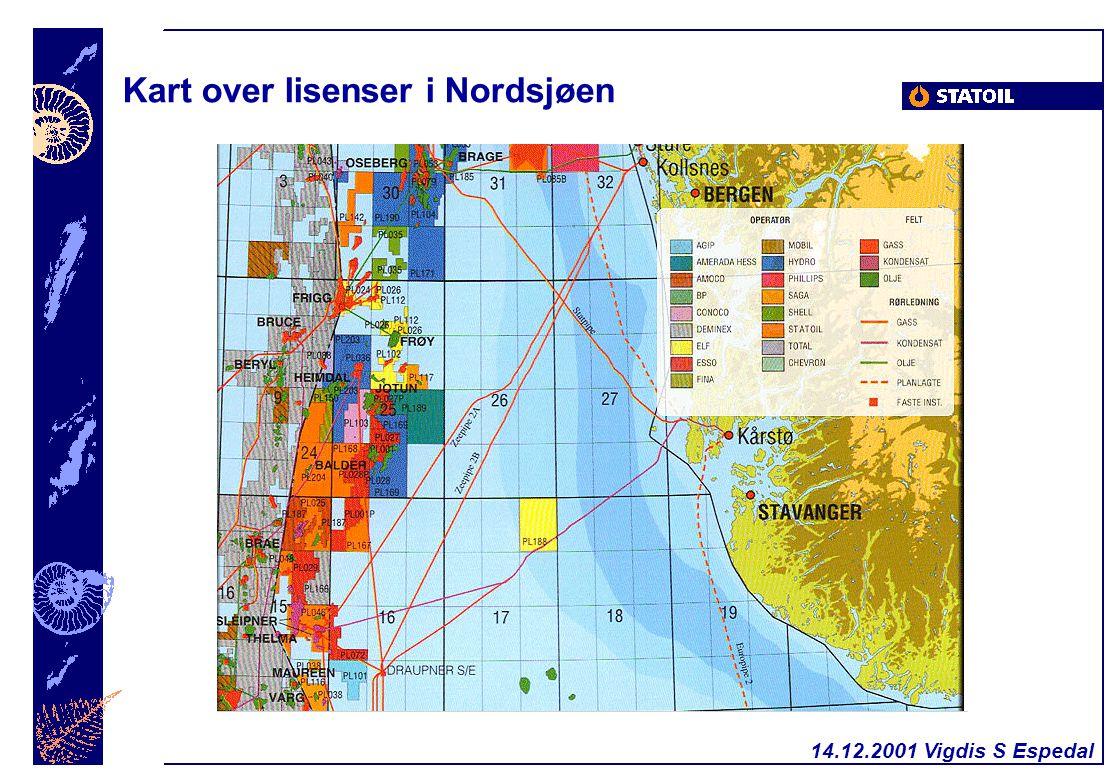 14.12.2001 Vigdis S Espedal Kart over lisenser i Nordsjøen