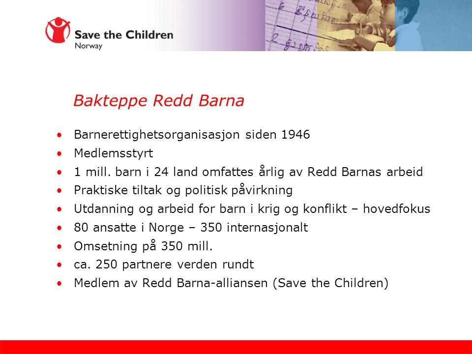 Bakteppe Redd Barna Barnerettighetsorganisasjon siden 1946 Medlemsstyrt 1 mill.