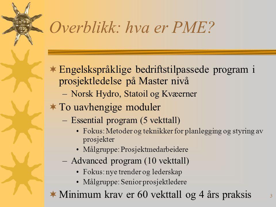 3 Overblikk: hva er PME.