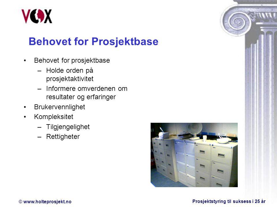 © www.holteprosjekt.no Prosjektstyring til suksess i 25 år Spørsmål ?